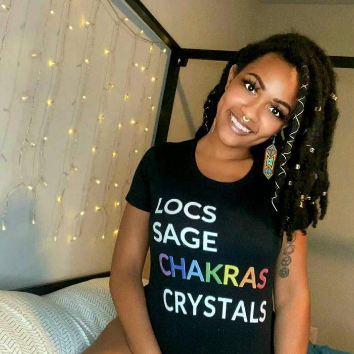 The Locs Sage Chakras Crystals Tee