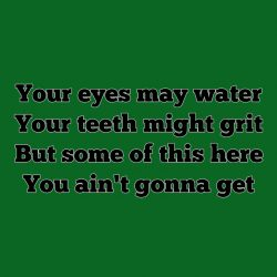 Your Eyes May Water…