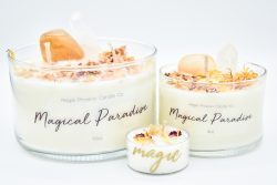 """Magical Paradise"" Crystal & Reiki Infused Soy Candle"