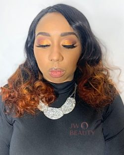 @jwbeautyllc | Warm Copper Cut Crease | Natural Glam Makeup | Makeup For Black Women