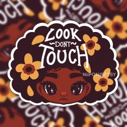 Look, Don't Touch! 3″ Vinyl Sticker