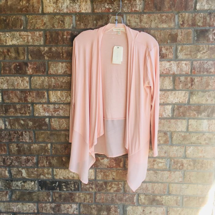 Peach High-Low Duster