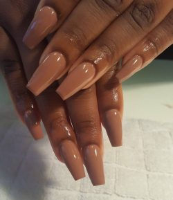 Brown/Nude Nail Set