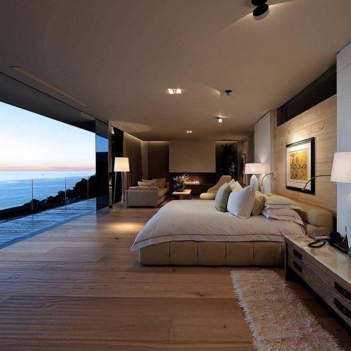 Sea front bedroom