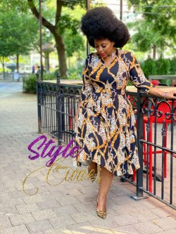 Plus Size Link and Chain Dress