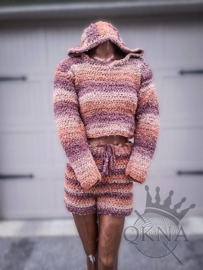 Crochet Sherpa Short Set