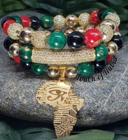 Jade/Onyx Stack Bracelets