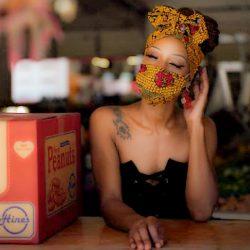 Custom headwrap/mask set