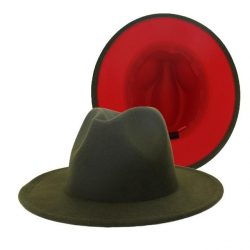 Fedora Green/ Red Bottom