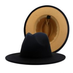 Fedora Black / Tan Bottom