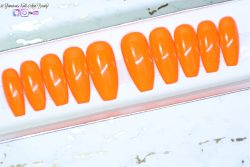 Bite My Orange | Custom Luxury Press-On Nails | False Nails | Handmade Press-On Nails |