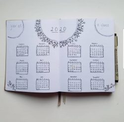 Bullet Journal 2020 Year at a Glance