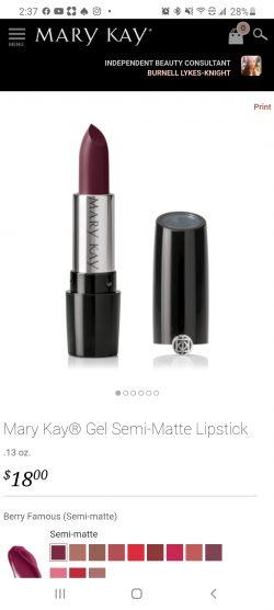 Gel Semi-Matte Lipstick Berry Famous
