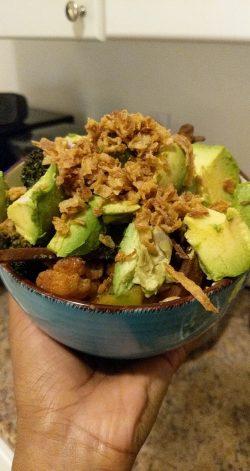 Vegan rice bowl