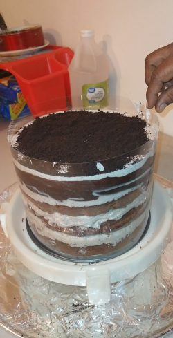 TSUNAMI CAKE 🌊 Cookies & Cream #Before