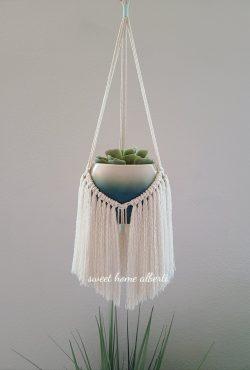 DIY plant hanger instructions