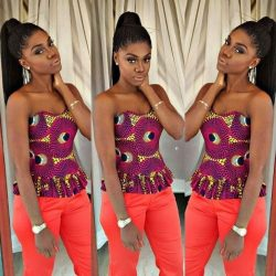 African printed top(sleeveless)