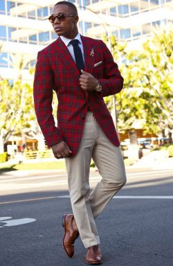 Red flannel suit