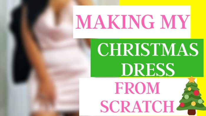 Making My Christmas Dress From Start To Finish