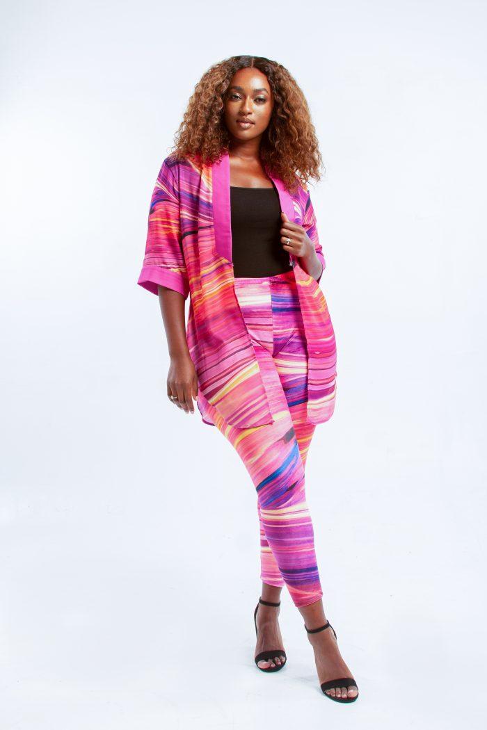 Yana Chiffon Cardigan & Velvet Leggings