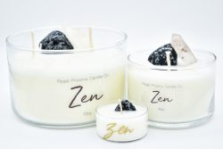 """Zen"" Crystal & Reiki Infused Soy Candle"