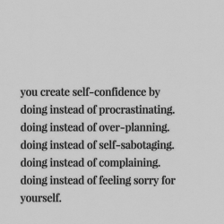 * Self-Confidence *