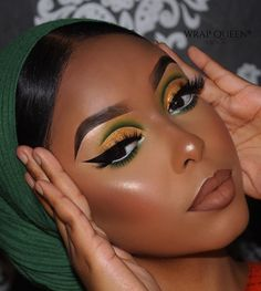 green and yellow eyeshadow