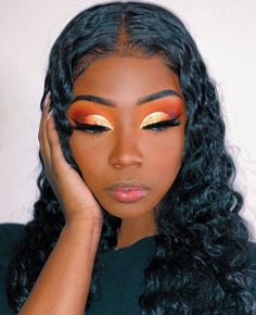 orange make up look