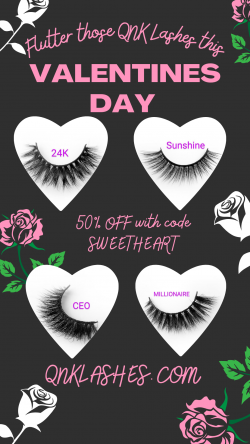 QNK lashes Valentines Day Sale! 50% OFF with code SWEETHEART