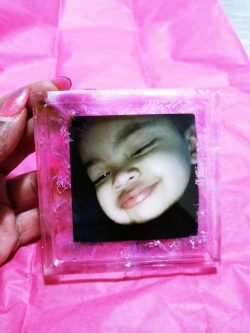 Hand crafted coaster or pic frame