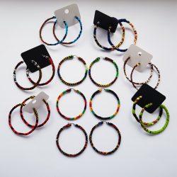 African Wrapped Hoop Earrings