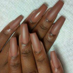 Beautiful Chocolate Matte Nails