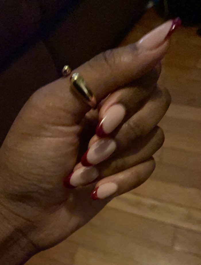 red french tips ♥️