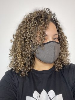 Blonde Balayage on curly hair