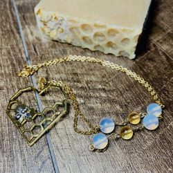 Milk & honey heart necklace
