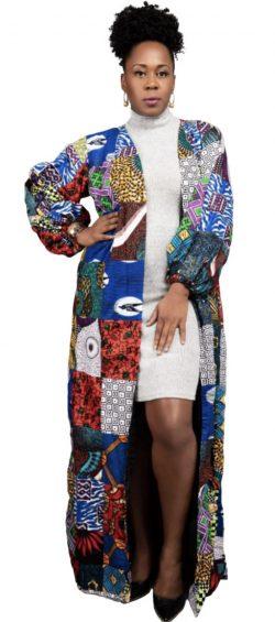 Patched African Fashion Kimono By waxandwonder.com