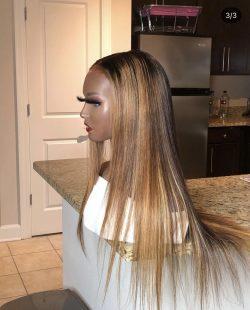 Brown & Blonde Hi- lights