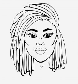 Locs coloring page