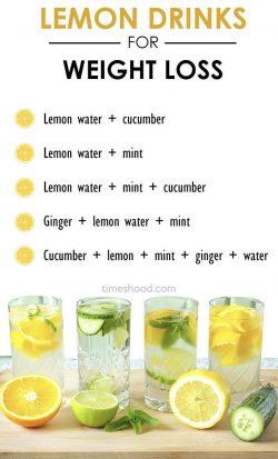 Lemon drinks for weight loss