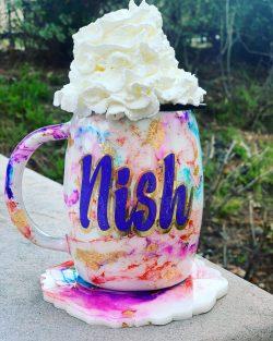 Resin coffee mug