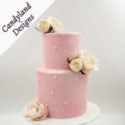 Pink Pearl Wedding Cake