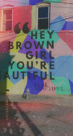 Brown girl beautiful