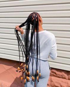 long box braids with beads