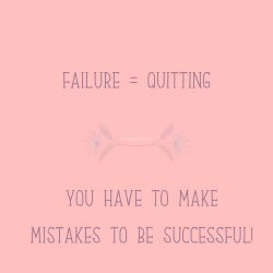 Making mistakes = Success
