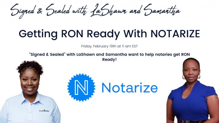 Remote Online Notarization