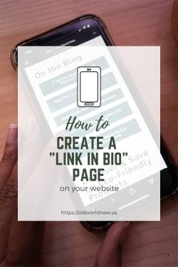 Create a Link In Bio Page on Your Website