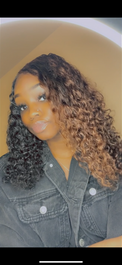 Brown and Black Hair Color Split