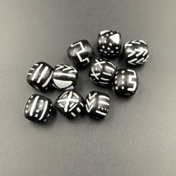 Mud Cloth Wooden Hair Beads