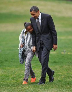 President Obama n daughter