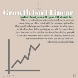 Growth isn't linear, there will be ups and downs